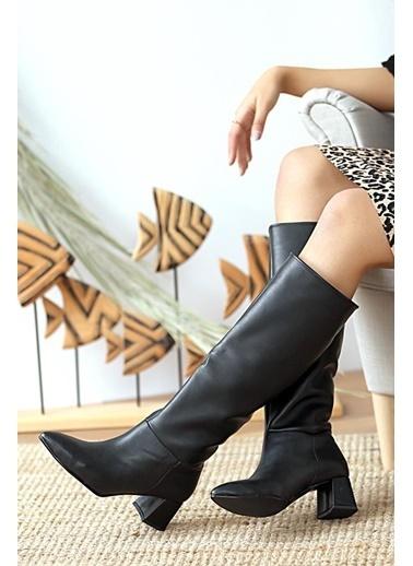 Pembe Potin A1400-20 Çizme Siyah